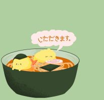 Pomeranians - Tempura Udon by alice-addict