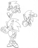 3x Sonic Sketches by LPCD