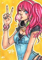 aceo - bubblegum by demon-rae