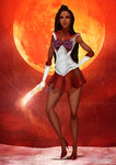 Black Sailor Mars by IsaiahStephens