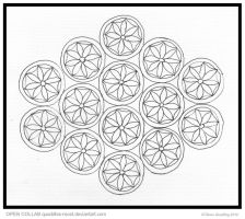 Fourteen Flowers Mandala  OPEN COLLAB by Quaddles-Roost