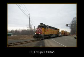 CITX SD40-2 2806 by LDLAWRENCE