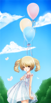 Balloons n Butterflies- by Checkered-Fedora