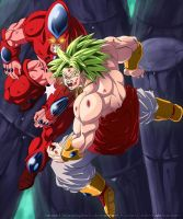 Hatchiyack vs Broly by edstir