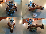 Ceramics project- Milotic teapot by Gothica-the-Eevee