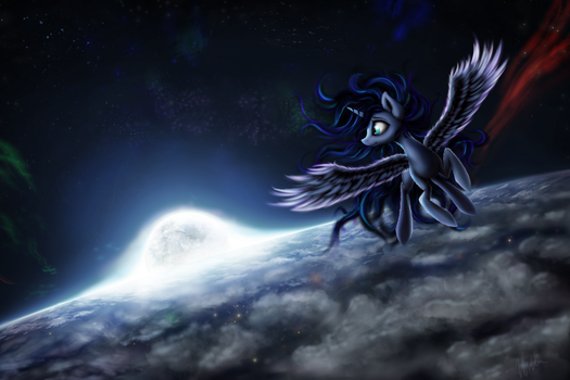 Above the moonlight by Salterino