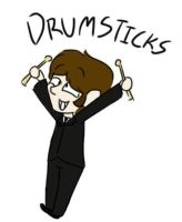 Ringo and his drumsticks by DoozyDoors