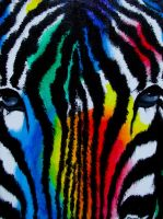 SOLD - Rainbow Zebra by Samishii-Kami