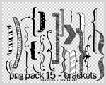 PNG PACK 16 - BRACKETS by ChantiiGG