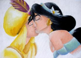 Aladdin and Jasmine by misskat345