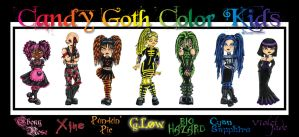 Candy Goth Color Kids by BelovedUnderwing