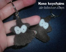 Kuso Keychains by airlobster