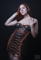 Rope Corset Dress by BlackRoomPhoto