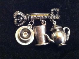 Mad Tea Party Brooch by ayame133