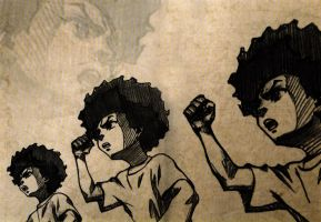 The Boondocks Wallpaper - Huey Freeman by Razpootin