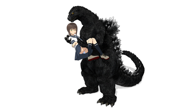 Me And Gojira by aquadesrtoyer