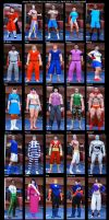 All my SF SvR 2011 CAW's by Shadaloo1989