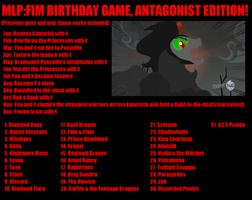 MLP Antagonist Birthday Game by Smashfan666