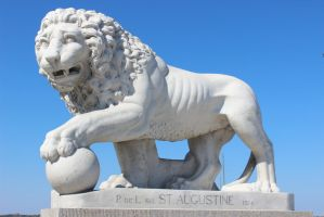 St. Augustine Statue by ISeeThroughMyEyes