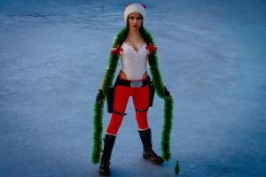 New Year's Lara Croft - frozen lake by TanyaCroft