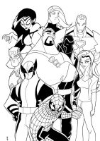 New Avengers Animated BW by TheBoo