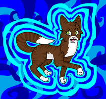 Psychedelic Cat! (Art trade!) by horsedog0911