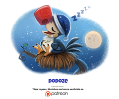 Daily 1340. Dodoze by Cryptid-Creations