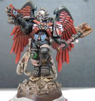 WIP: Blood Angels Death Company Chaplain Lemartes by IronKobra
