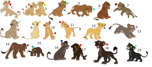 FREE !!!!!!!!!!!!!!!!! lion cub adoptables 10 by knowitall123-adopts