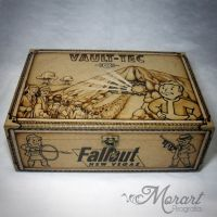 Wood Box: Fallout [Pyrography / Woodburning] by dcmorais