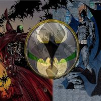 spawn vs batman by pinstripesndpokadots