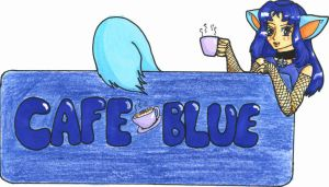 Cafe Blue's Mascot by bittykitty