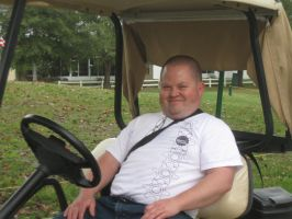 me in a golf cart by crazygardener