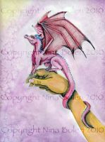 Dragon and hand painting 2 by The-GoblinQueen