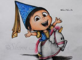 Despicable Me Drawing - Agnes by ShiroiNekosArt