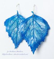 elfish earrings Ice leaves by Svetlana-Eliro