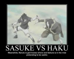 Sasuke and Haku Motivational Poster by marluxiaoblivion13