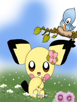 Spiky-eared Pichu by jirachicute28