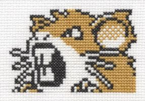 Pokemon Pinball Raticate cross stitch by Lil-Samuu