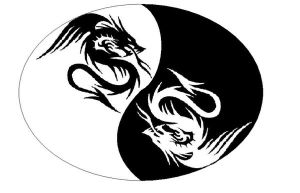 ying yang dragons by EVILoboe