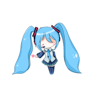 Chibi Hatsune Miku Loves You by redbean-bun