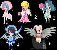 Trade to Adopt Weird Girls Set 7 CLOSED by AdoptableSoulxHeart