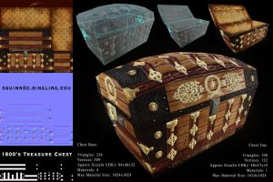 1800's Treasure Chest - Game Asset by SterlingQuinn