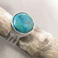 Stylish chrysocolla ring by Jealousydesign