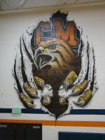 Tigerhawk mural by itva