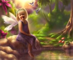 Portrait of a fairy by T-Tiger