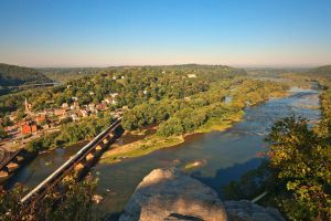 Harpers Ferry and Potomac River Overlook by somadjinn