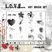 Love ArtBrushSet by Diamara
