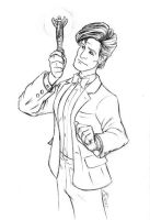 11th Doctor Sketch by AnimalQwacker