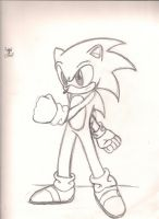 "Sonic ""drawing"" by luigi2cool"